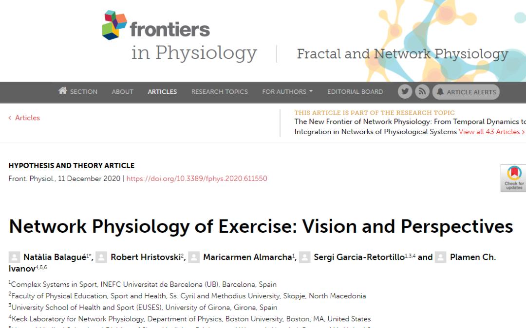 """Nou article amb participació del professor Dr. Sergi Garcia al prestigiós """"Frontiers in Physiology"""""""