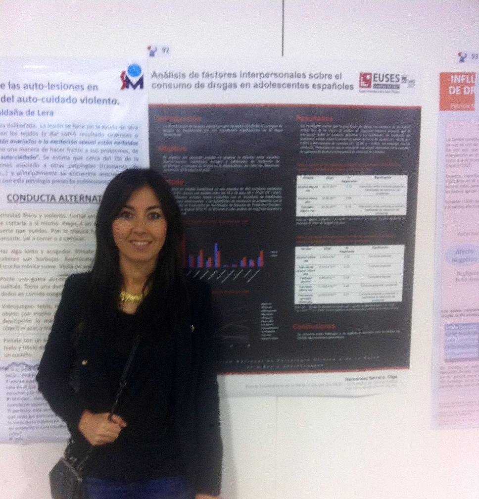 La professora d'EUSES, la Dra. Olga Hernández, en la 7a Jornada d'Infermeria Neurològica de SEDENE