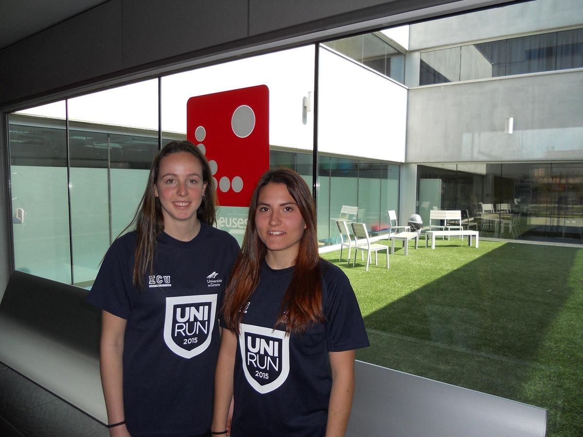 Dues alumnes de CAFE, Irene Prunell i Carla Guallar, participen a la Unirun 2015