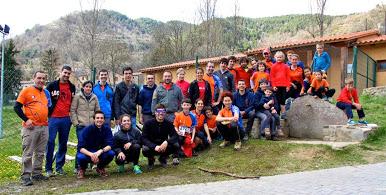 Quatre alumnes de CAFE d'EUSES, en l'organització de la cursa catalana d'orientació al Ripollès