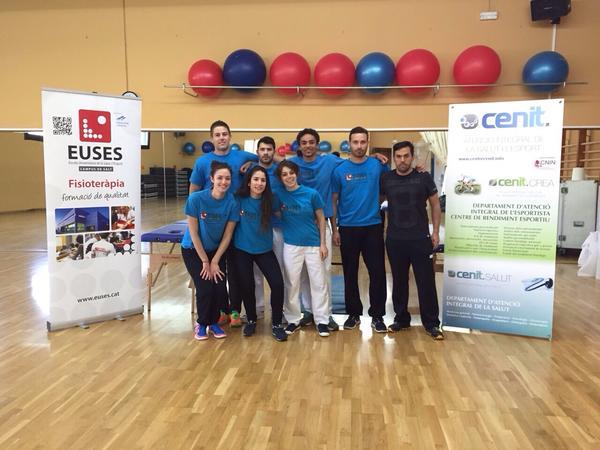 Onze alumnes del Grau en Fisoteràpia d'EUSES, en la cursa de BTT Girona MTB Challenge