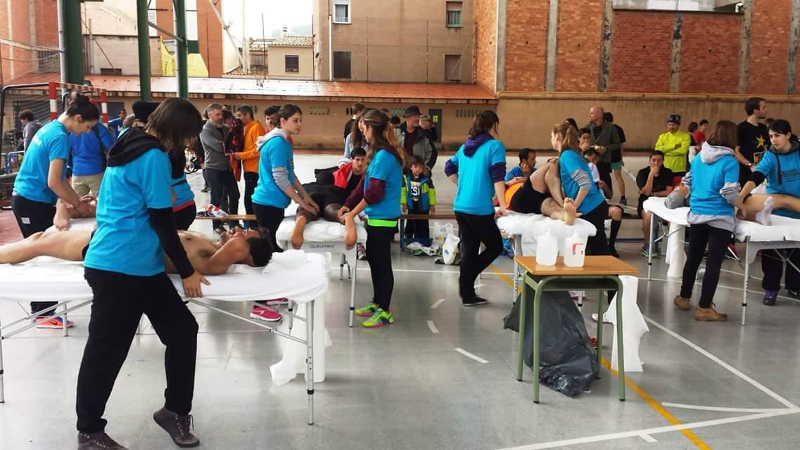 Alumnes del Grau en Fisioteràpia d'EUSES, en la City Run La Salle Girona