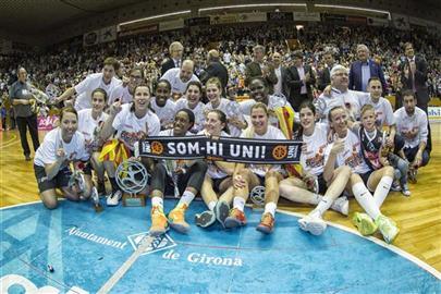 L'alumna de CAFE Anna Jodar, campiona de la Lliga Femenina amb l'Spar Citylift Uni Girona