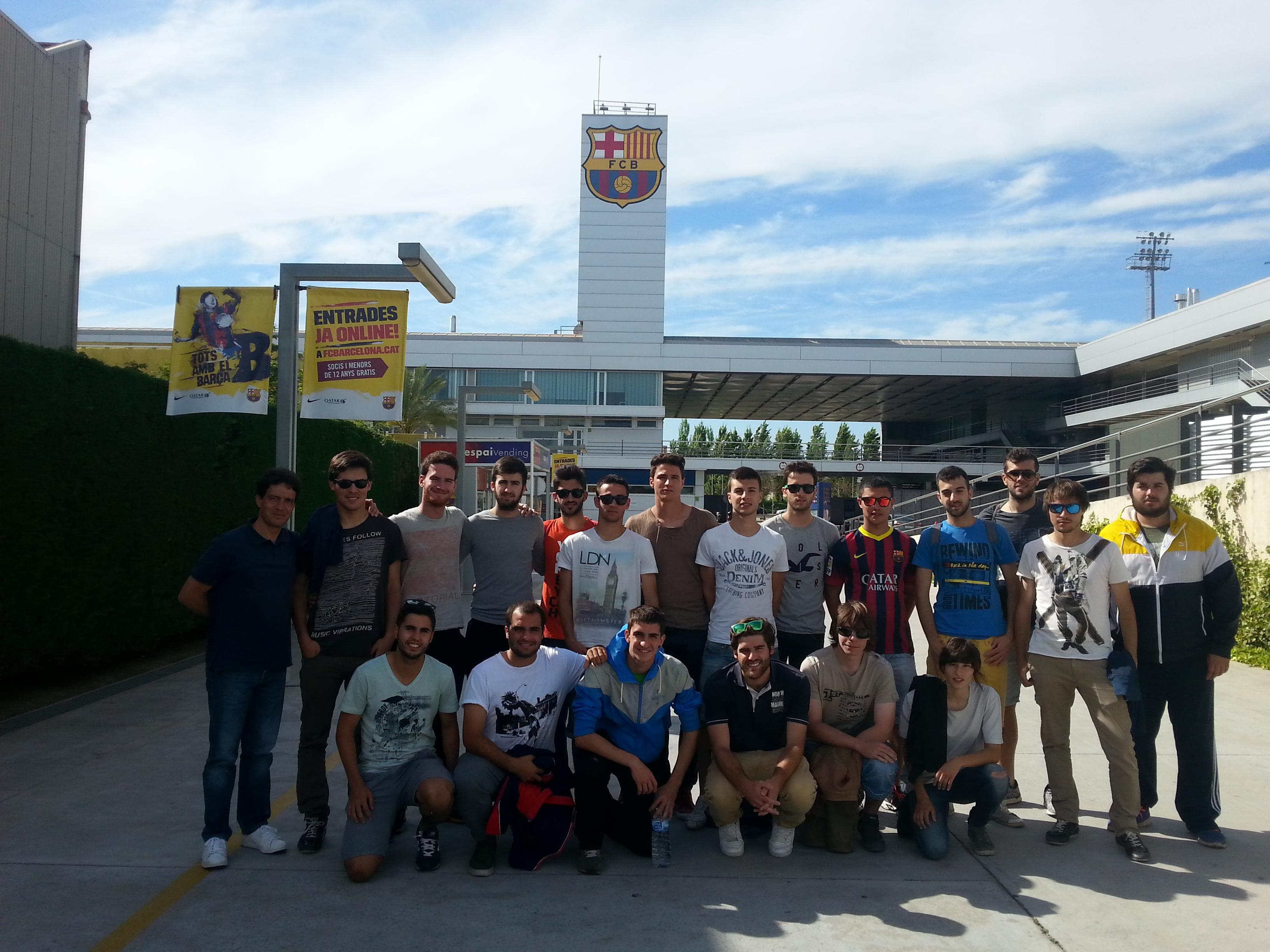 Els alumnes de 3r de CAFE d'EUSES UdG visiten les instal·lacions del FC Barcelona