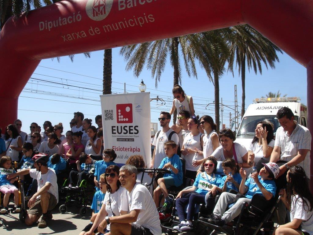EUSES col·labora en la Cursa del Dimoni, amb una prova inclusiva per a nens i nenes amb dificultats de mobilitat