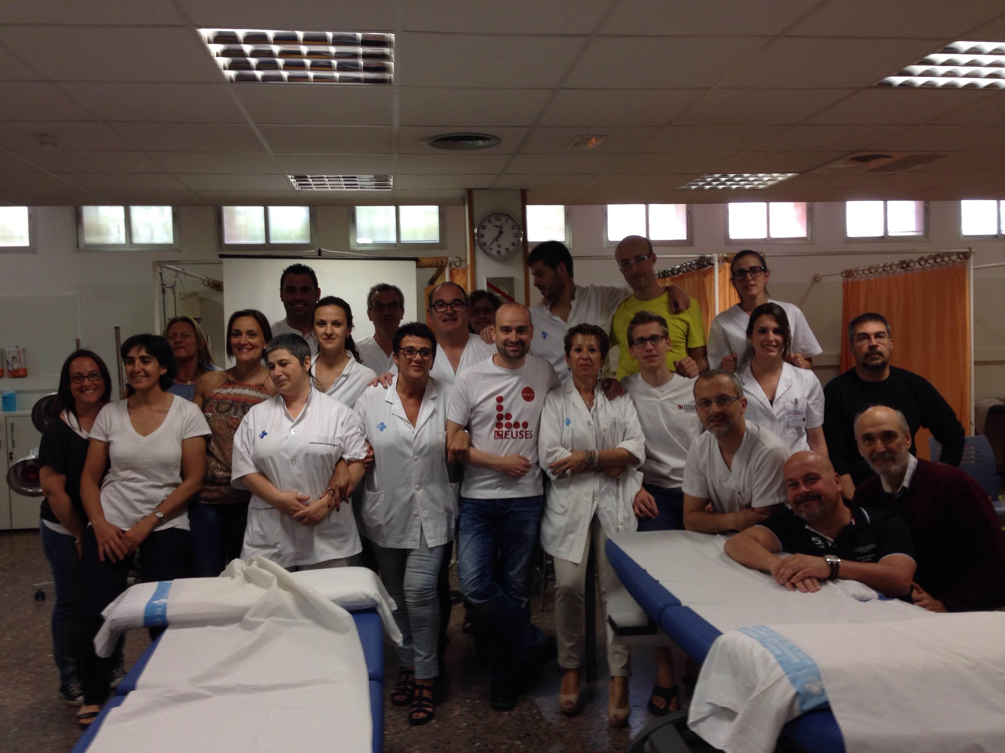 Curs d'Ismael Martí als professionals del servei de fisioteràpia del CAP Güell i de l'Hospital Trueta