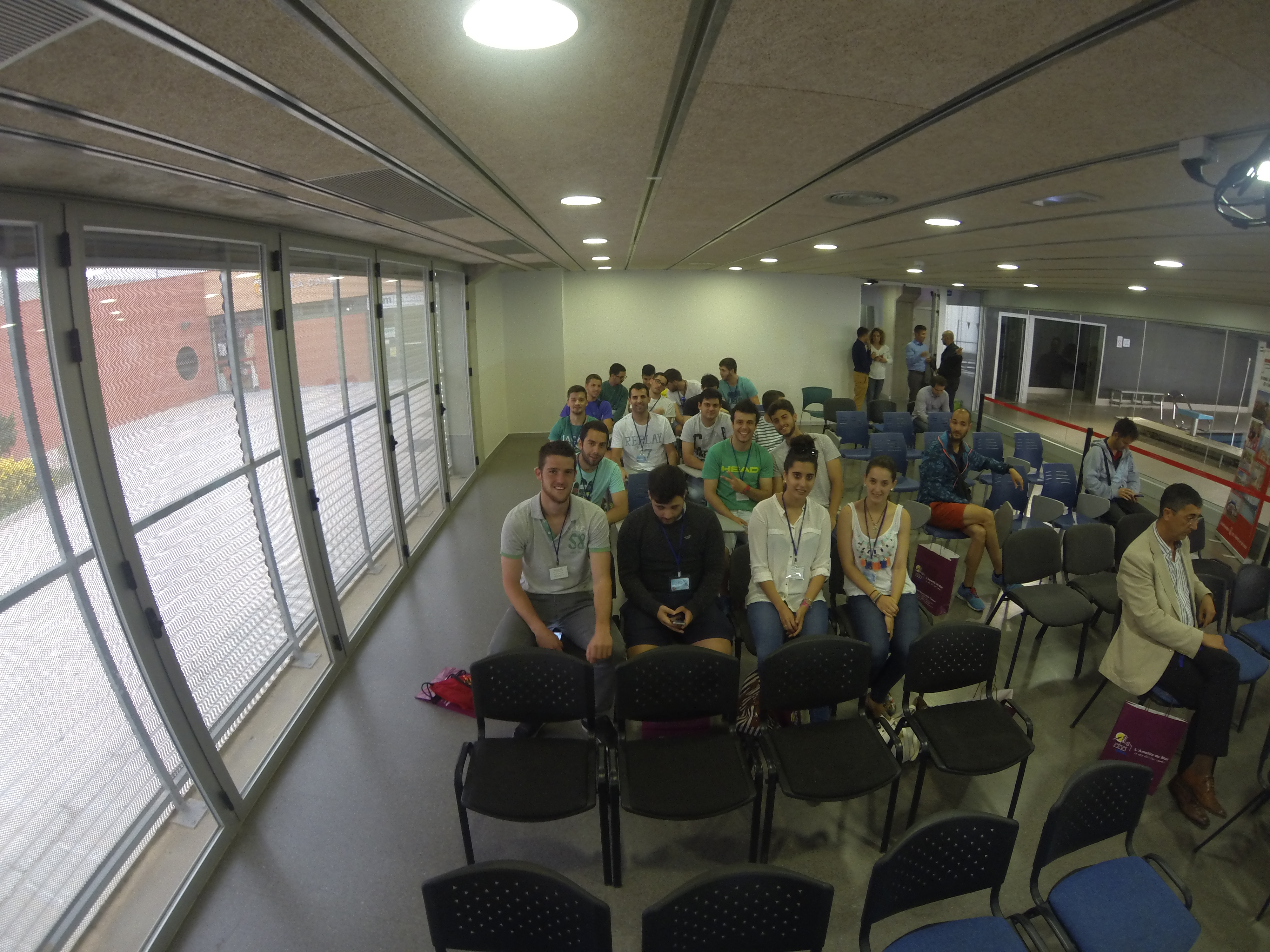 Els alumnes de 2n de CAFE d'EUSES TE-URV, en la jornada Esports i Territori de l'ACGEP