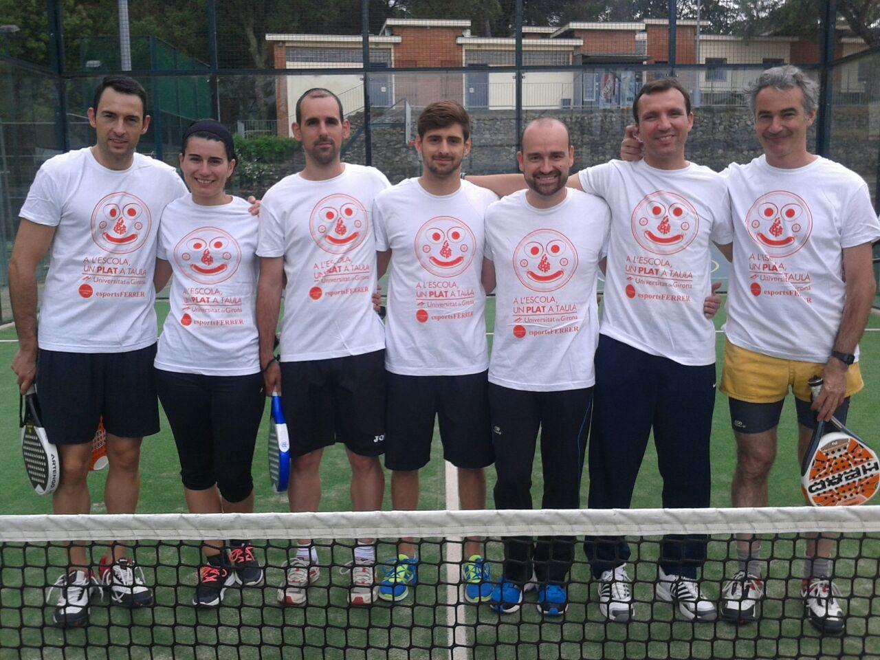 Un equip de professors d'EUSES participa en el 1r torneig solidari de pàdel