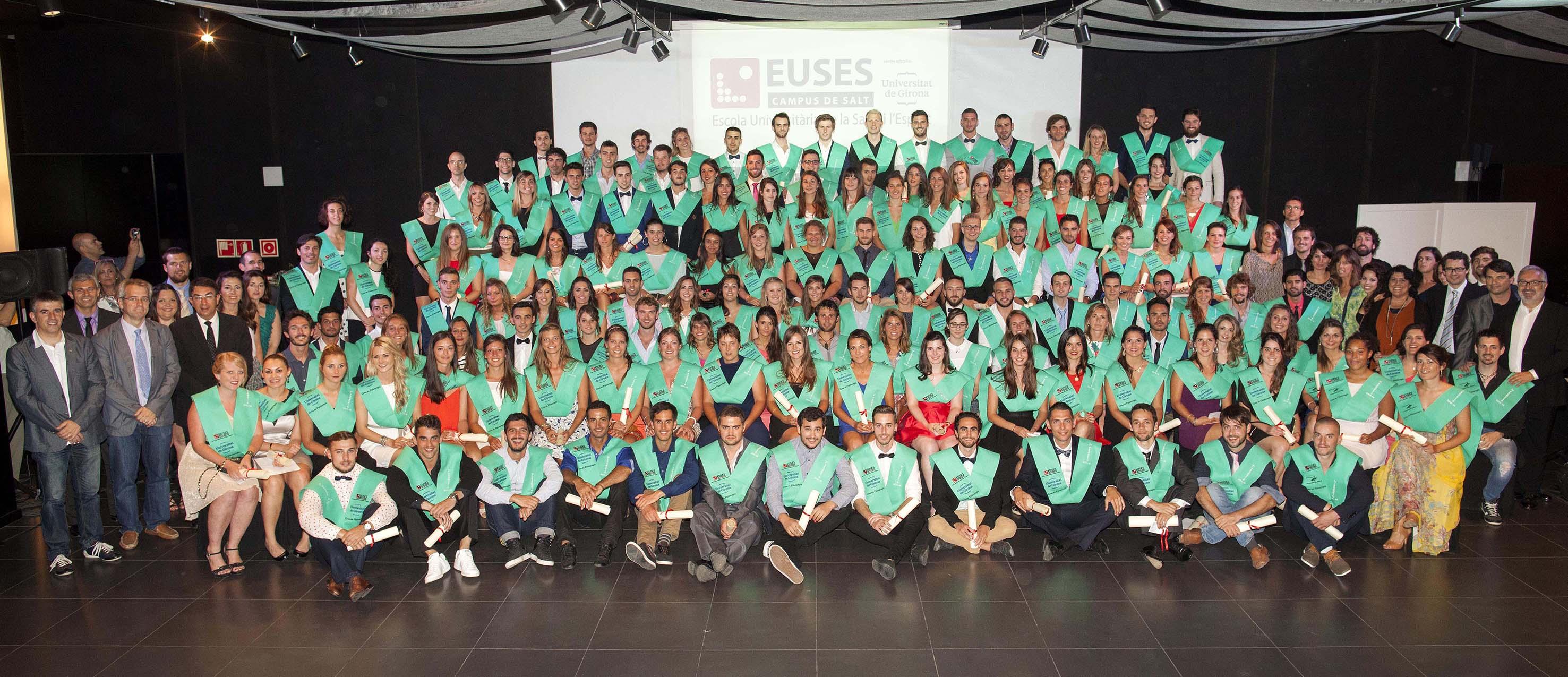 Acte de graduació de la promoció 2011-15 del Grau en Fisioteràpia de l'Escola Universitària de la Salut i de l'Esport