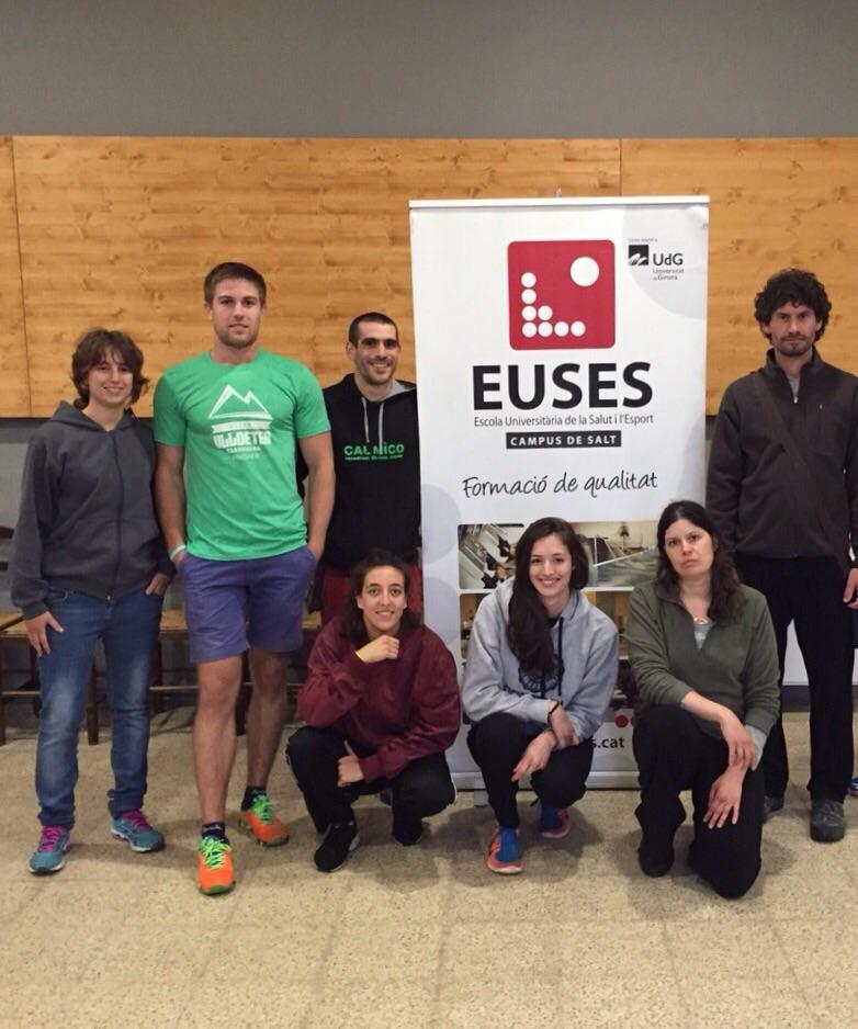 Estudiants del Grau en Fisioteràpia d'EUSES recuperen els participants del Trail Ulldeter