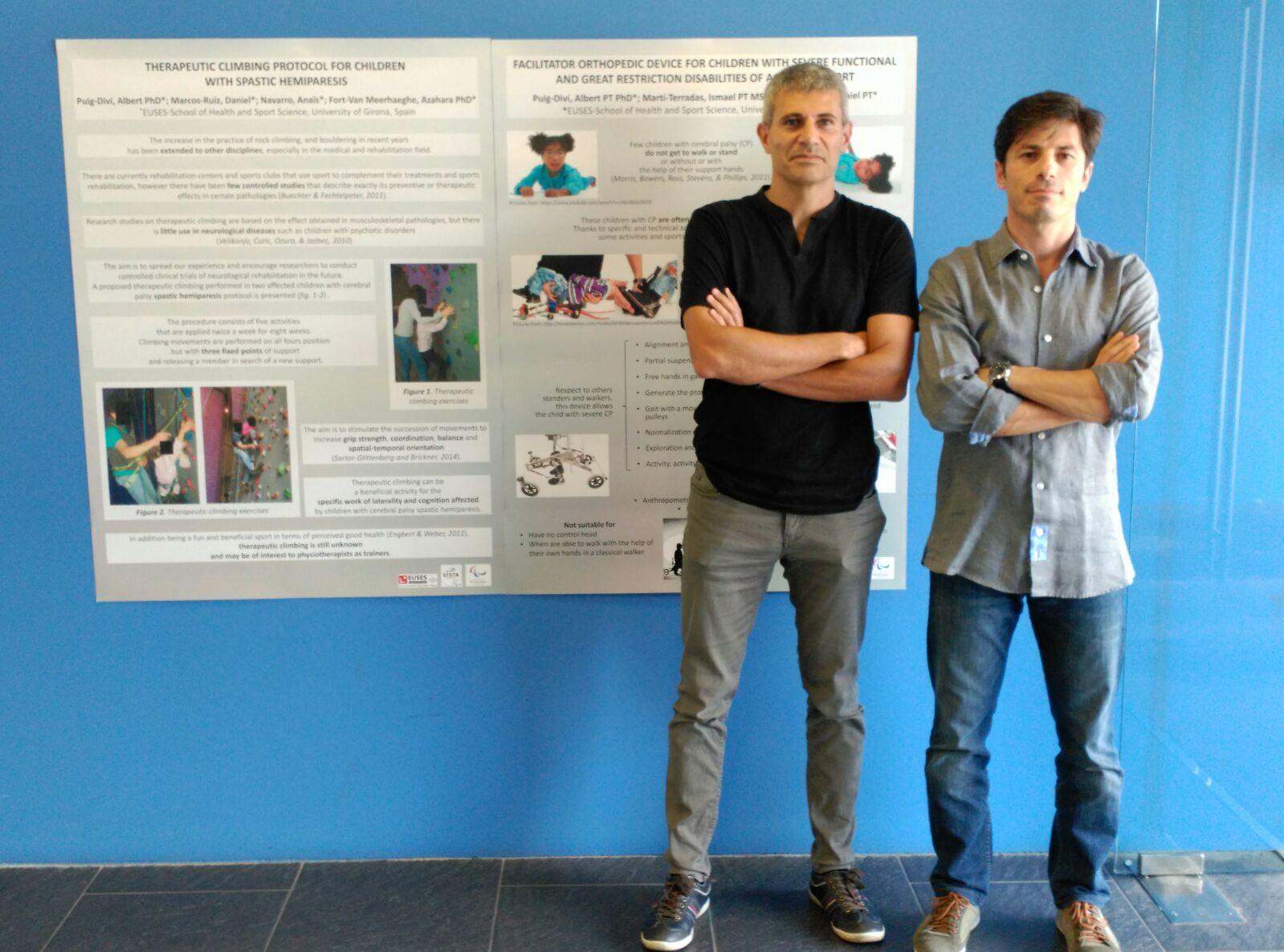 Els professors d'EUSES Dr. Albert Puig-Diví i Daniel Marcos presenten dos pòsters en el Congrés Internacional d'Esport Paralímpic