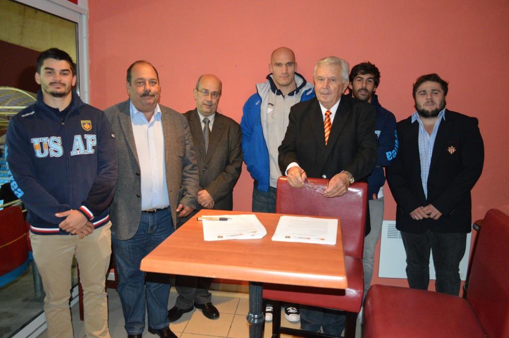 EUSES i el club de rugbi USAP de Perpinyà renoven el seu conveni de col·laboració per als quatre propers anys