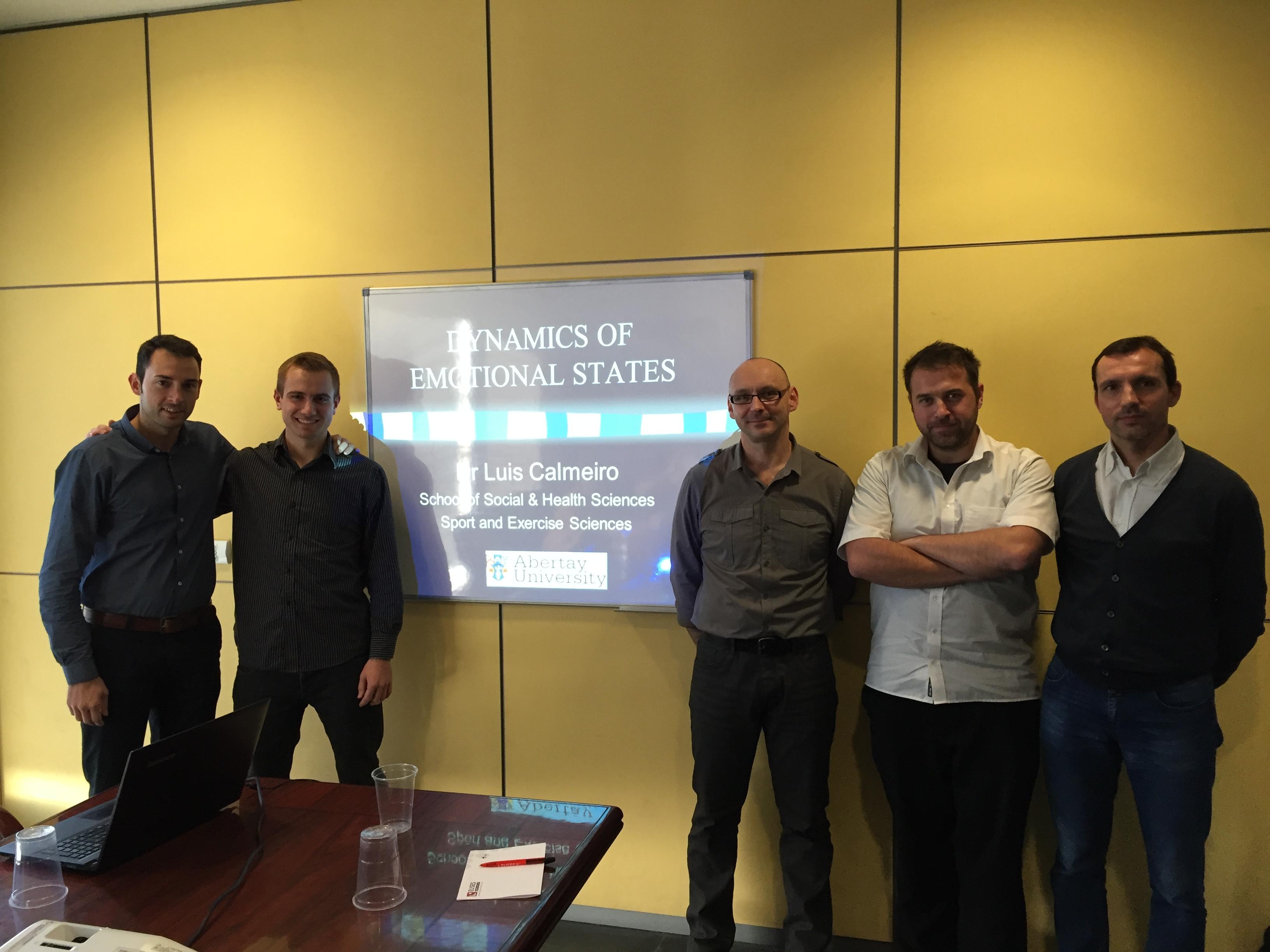 Visita de treball a EUSES del professor Dr. Luis Calmeiro, de la University of Abertay Dundee d'Escòcia