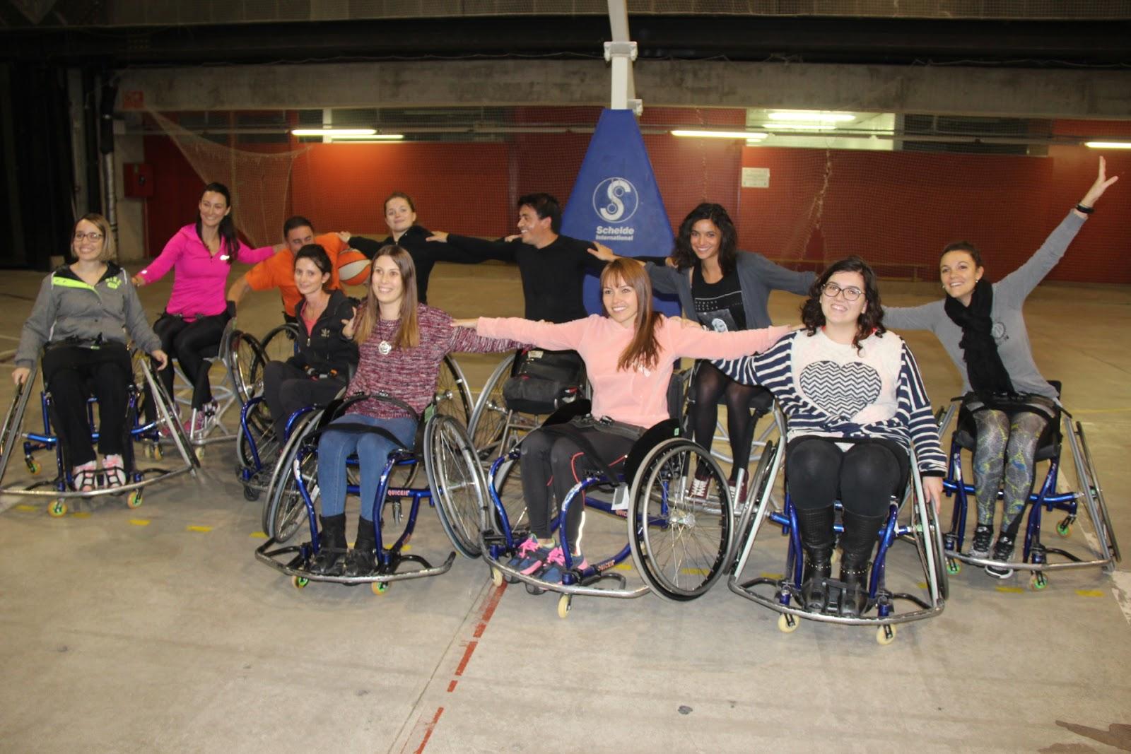 Jornada d'esport adaptat a EUSES TE-URV amb l'Associació de Persones amb Discapacitat Cocemfe Maestrat