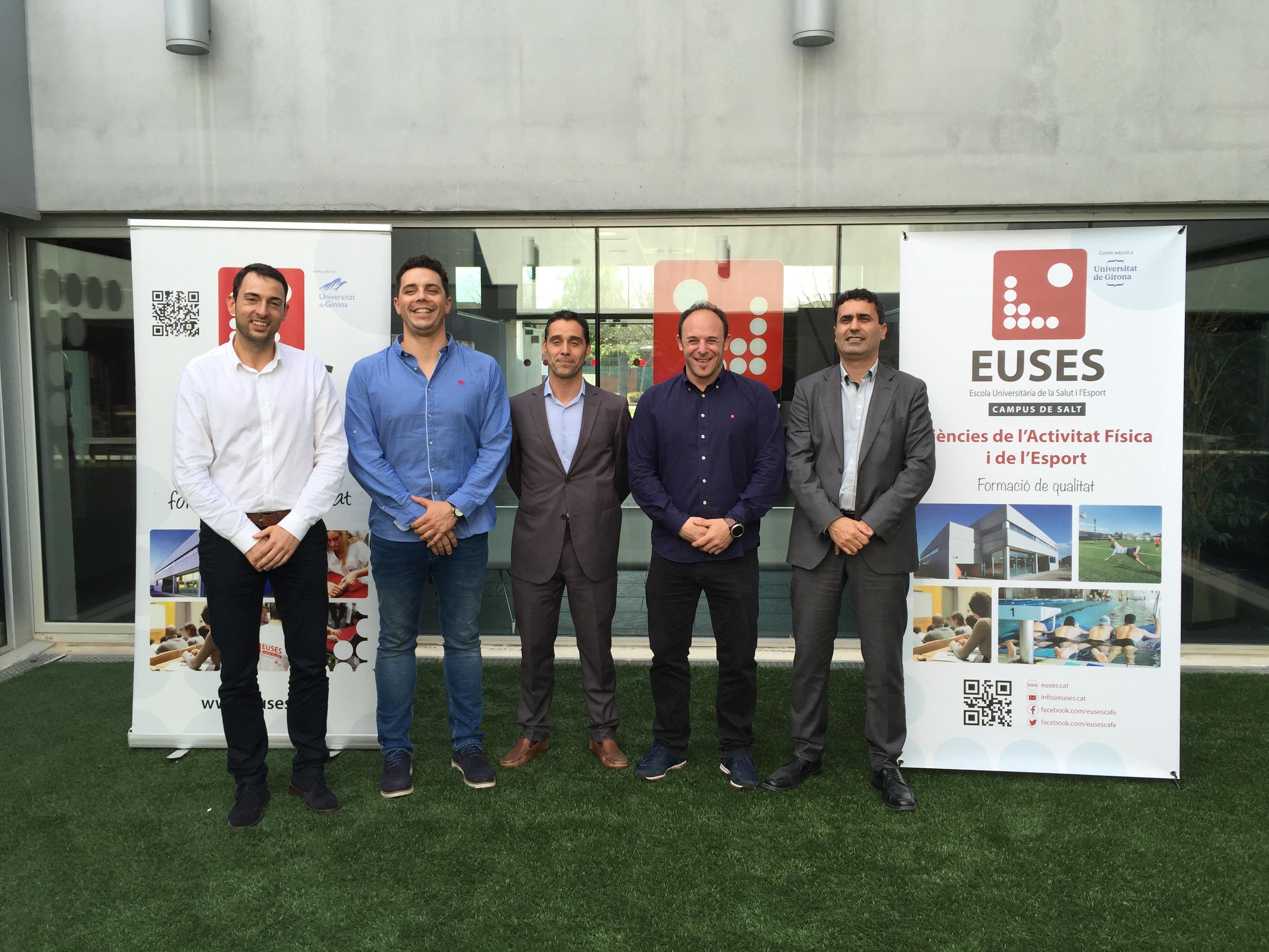 L'Escola Universitària de la Salut i l'Esport signa un conveni amb el centre de rendiment esportiu Cenit