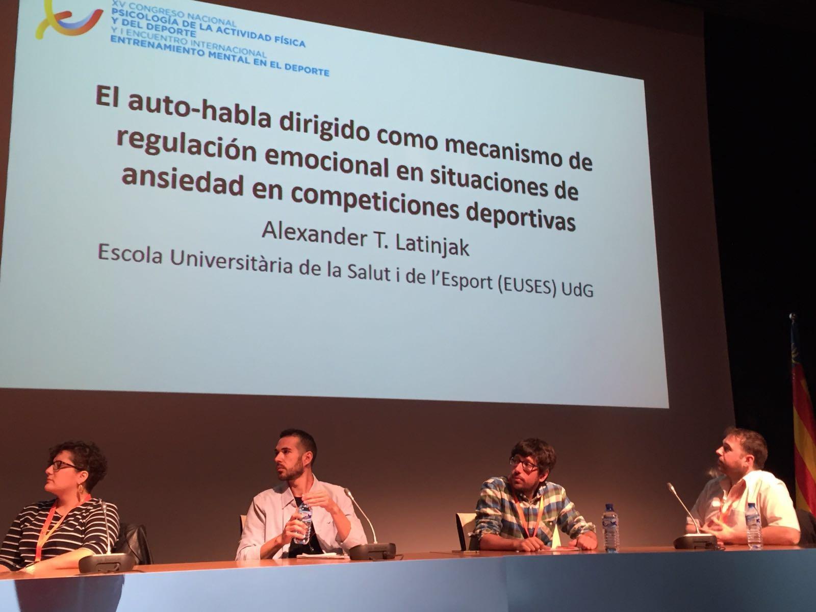 El professor d'EUSES Dr. Alexander Latinjak presenta tres ponències en el 15è Congrés Nacional de Psicologia de l'Activitat Física i de l'Esport, a València