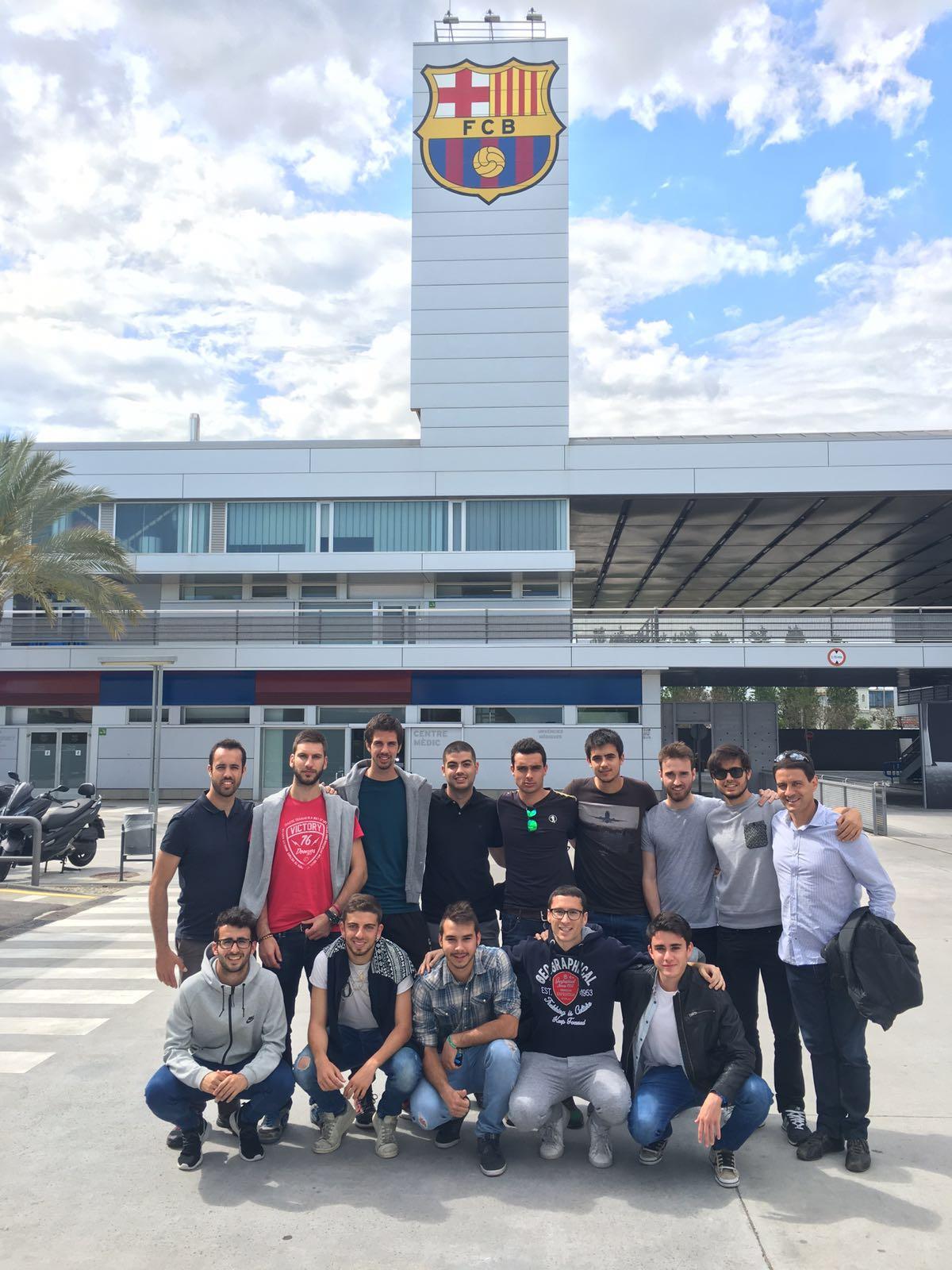 Els alumnes de 3r curs de CAFE d'EUSES visiten la ciutat esportiva Joan Gamper del FC Barcelona