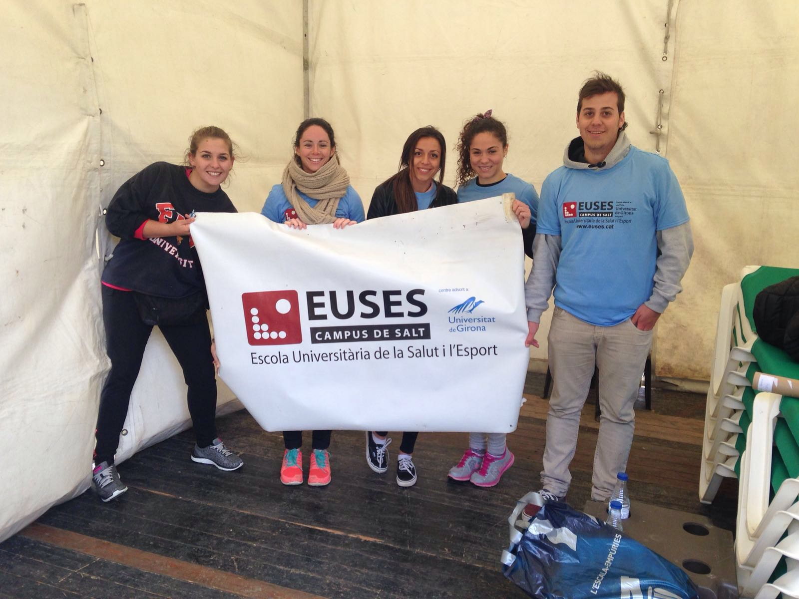 EUSES posa el seu granet de sorra en la 14a edició de la Marató d'Empúries