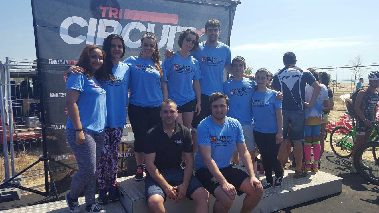 EUSES recupera els participants de la Triatló d'Arenys de Mar, prova puntuable per al circuït català