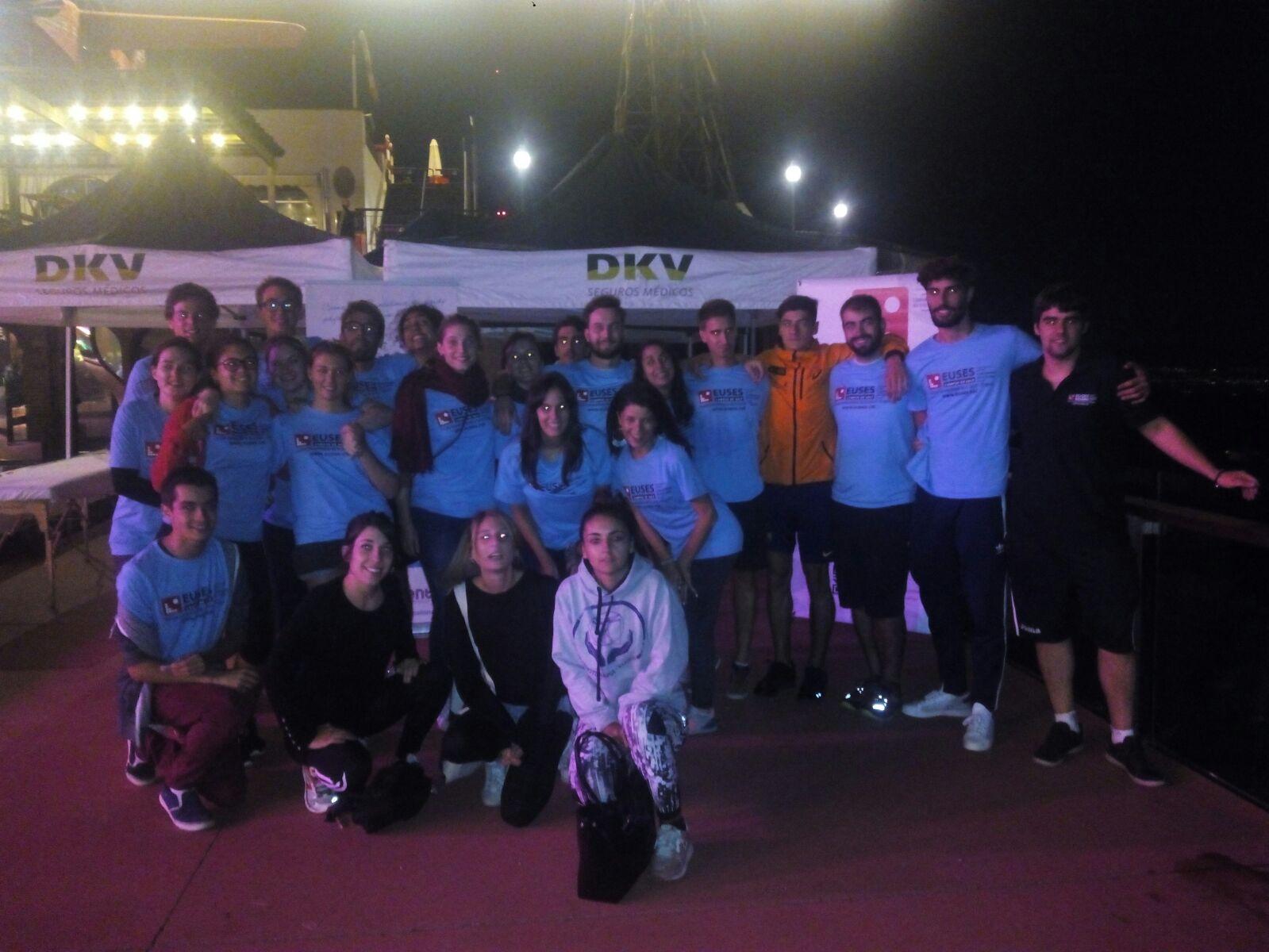 Estudiants del Grau en Fisioteràpia d'EUSES recuperen els participants de la Barcelona Midnight Trail