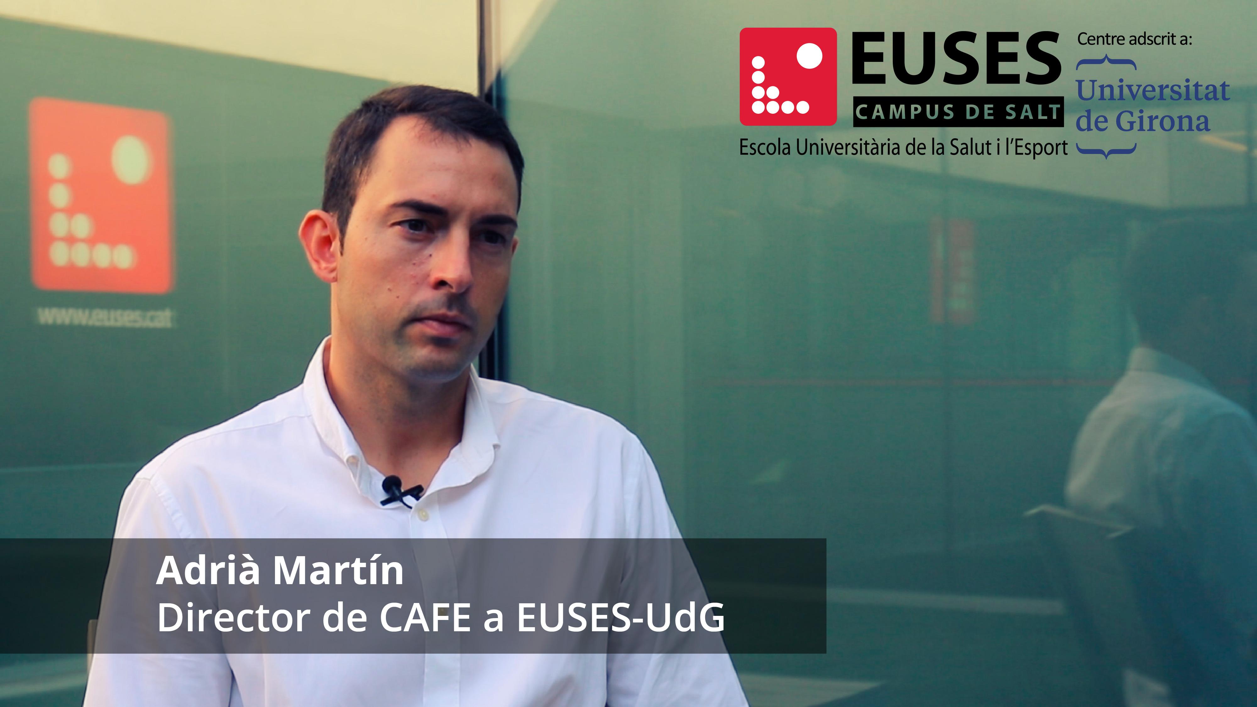Com encaren el futur els graduats en Ciències de l'Activitat Física i de l'Esport? Coneix l'assignatura 'Professió i reptes de futur', impartida per Adrià Martín, Director del Grau en CAFE a EUSES-UdG