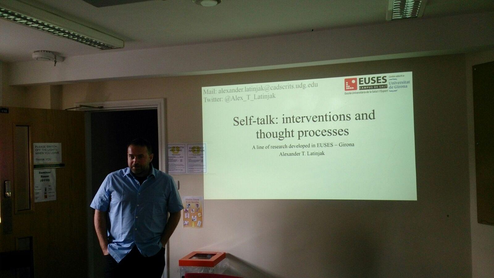 Estada de recerca i mobilitat del professor d'EUSES Dr. Alex Latinjak en quatre universitats del Regne Unit