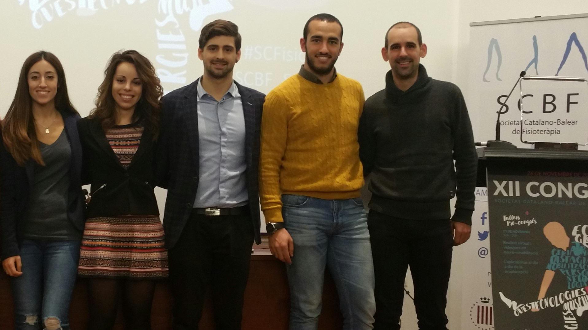 Cinc professors i un estudiant del Grau en Fisioteràpia d'EUSES participen en el 12è Congrés de la Societat Catalano-Balear a Barcelona