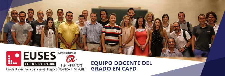 Experiencia, especialización y amplias habilidades pedagógicas son algunas de las características del excelente profesorado del Grado en Ciencias de la Actividad Física y el Deporte de EUSES Terres de l'Ebre