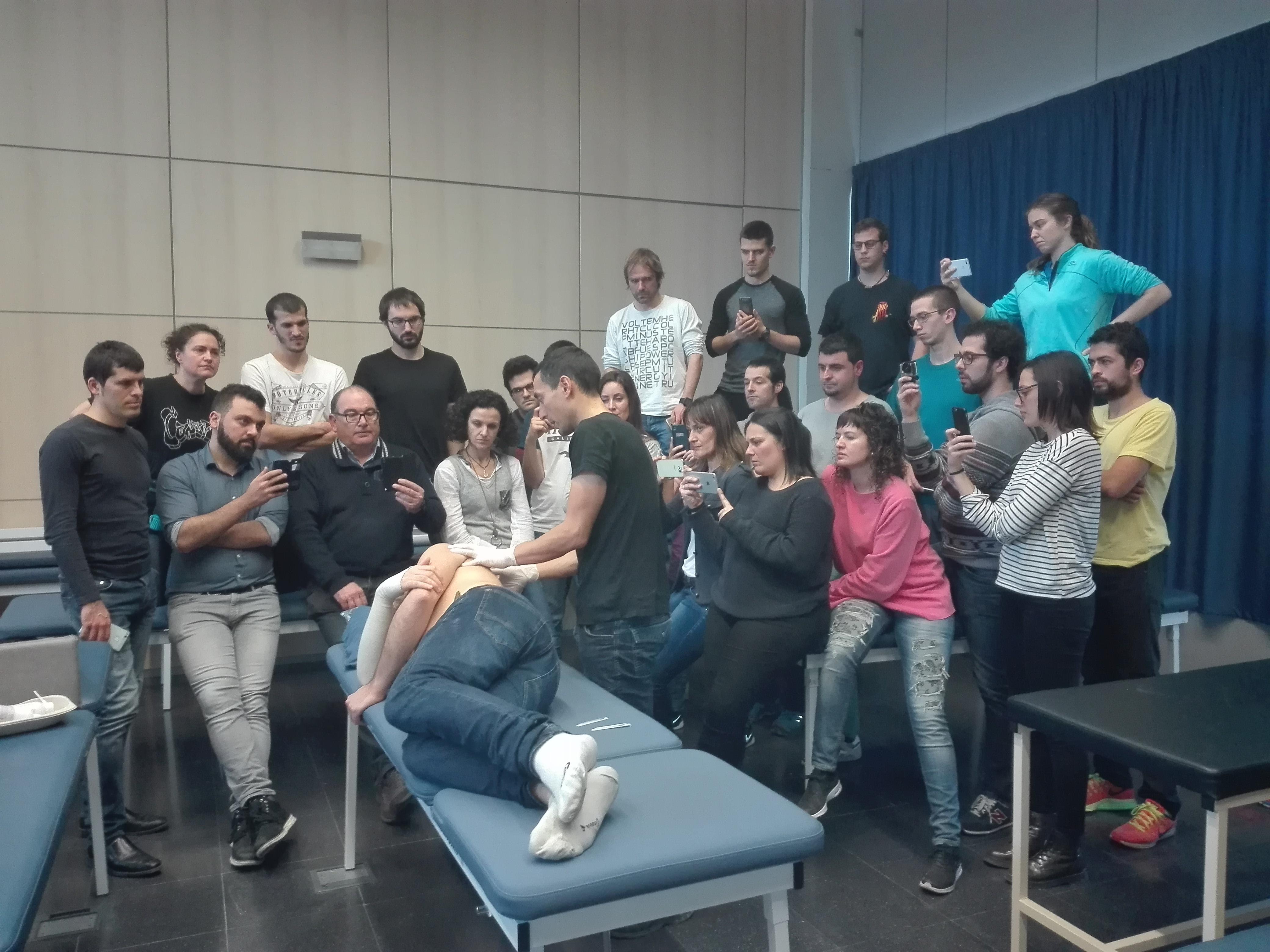 Alta participació en els cursos de formació continua en fisioteràpia d'EUSES d'embenats neuromusculars, ecografia múscul-esquelètica i punció seca