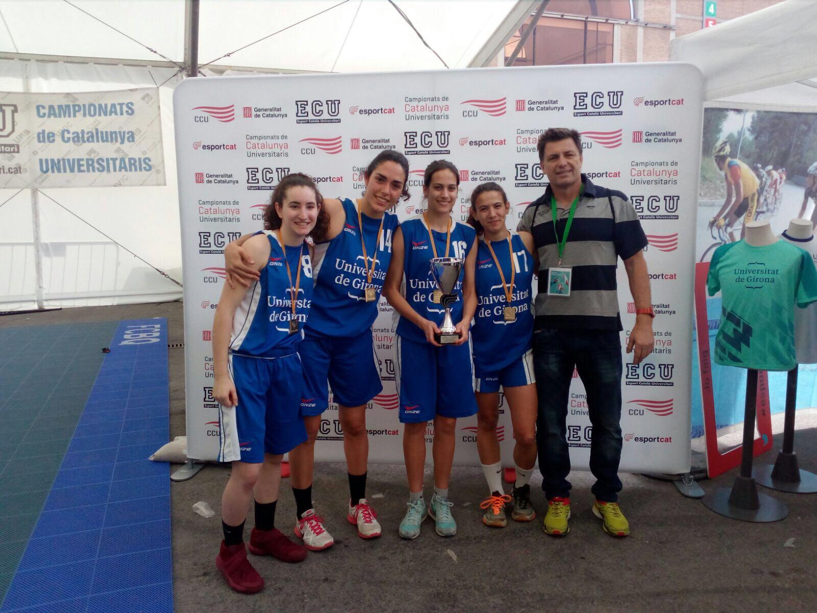 L'alumna de CAFE d'EUSES Anna Jodar guanya el campionat català de bàsquet 3×3 amb l'equip de la UdG i obté el passaport per a l'Europeu Universitari d'Split