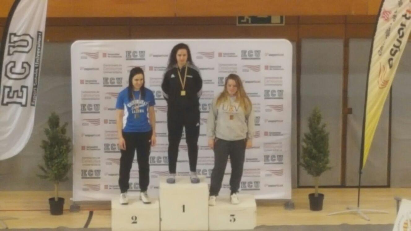 L'alumna de CAFE d'EUSES Terres de l'Ebre Xena Rodera obté el bronze al català universitari de taekwondo i l'accés als campionats estatal i europeu