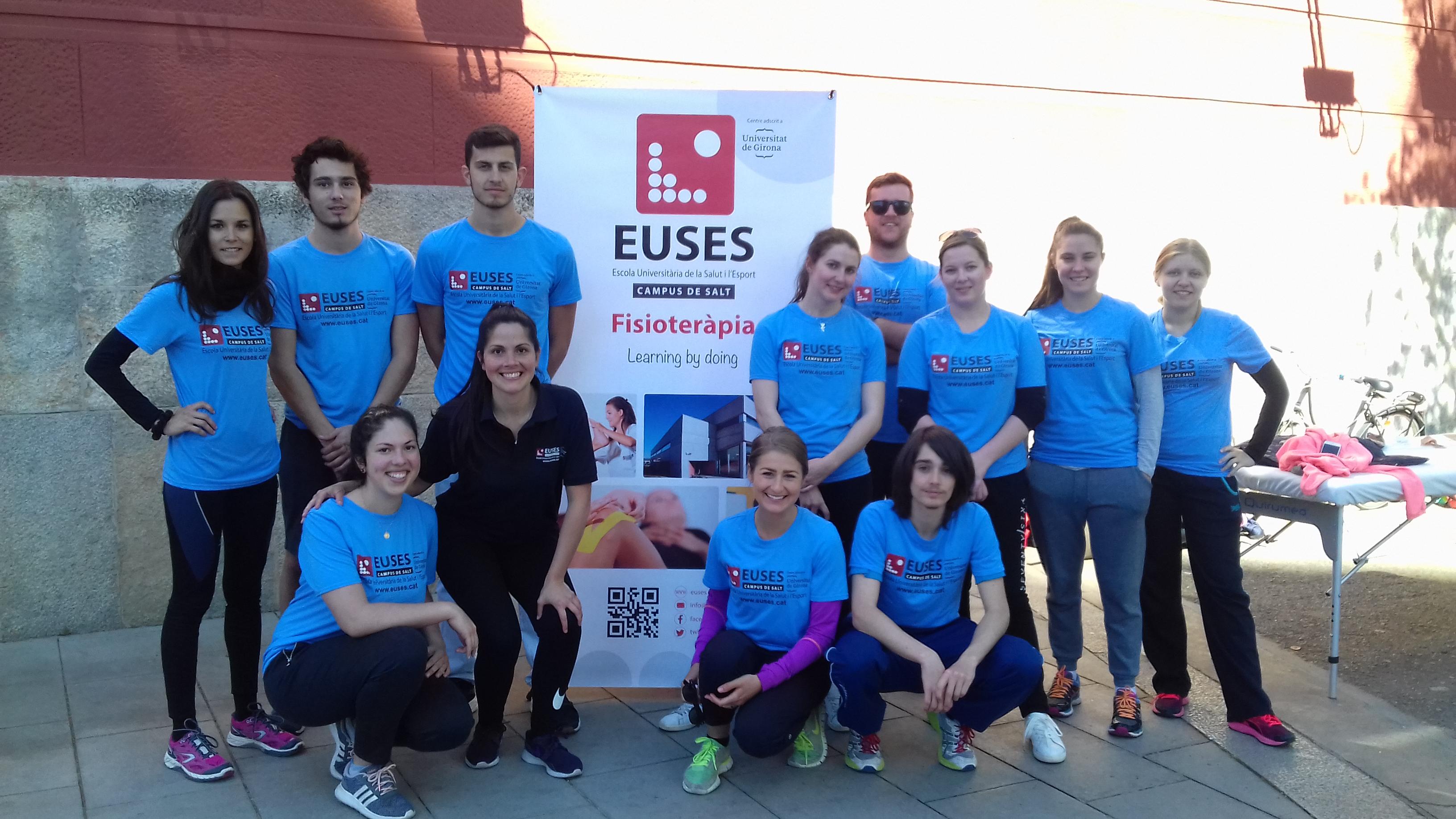 L'Escola Universitària de la Salut i l'Esport col·labora en la recuperació dels esportistes de la 20a cursa 10 Km Girona Esports Parra