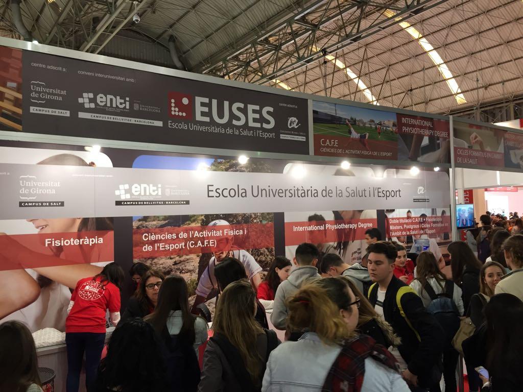 L'Escola Universitària de la Salut i l'Esport exposa tota la seva oferta acadèmica en el Saló de l'Ensenyament de Barcelona