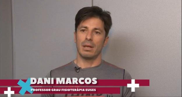 """El professor del grau de Fisioteràpia d'EUSES Daniel Marcos parla sobre el CORE en el programa """"Compte enrere"""" de TV Girona"""