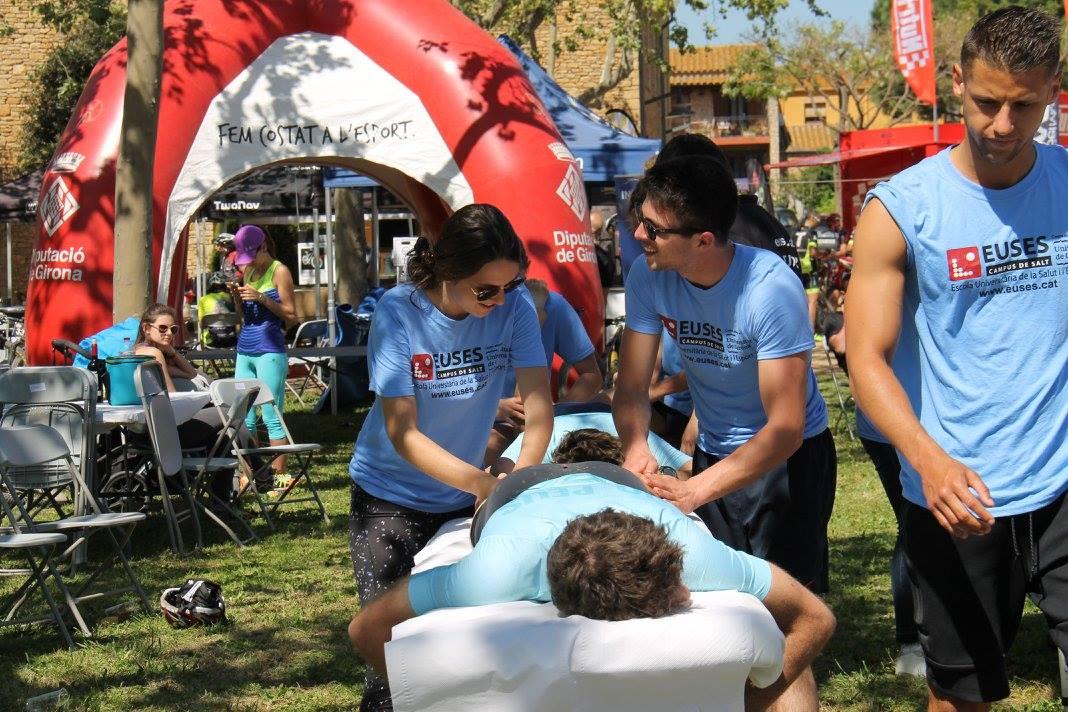 L'Escola Universitària de la Salut i l'Esport col·labora en la recuperació dels esportistes de la TwoNav Empordà BTT Extrem a Mont-ràs