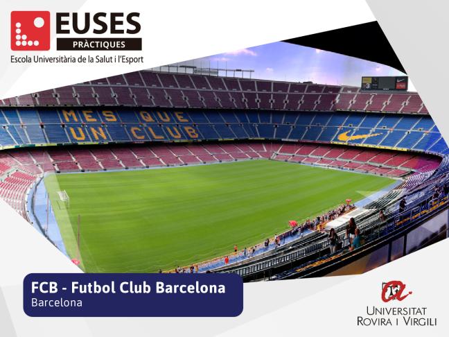 EUSES Terres de l'Ebre amplia els convenis de pràctiques amb nous centres de prestigi com el FC Barcelona o el CD Rayo Vallecano. Entra en contacte amb el món laboral, estudiant el Grau en Ciències de l'Activitat Física i l'Esport