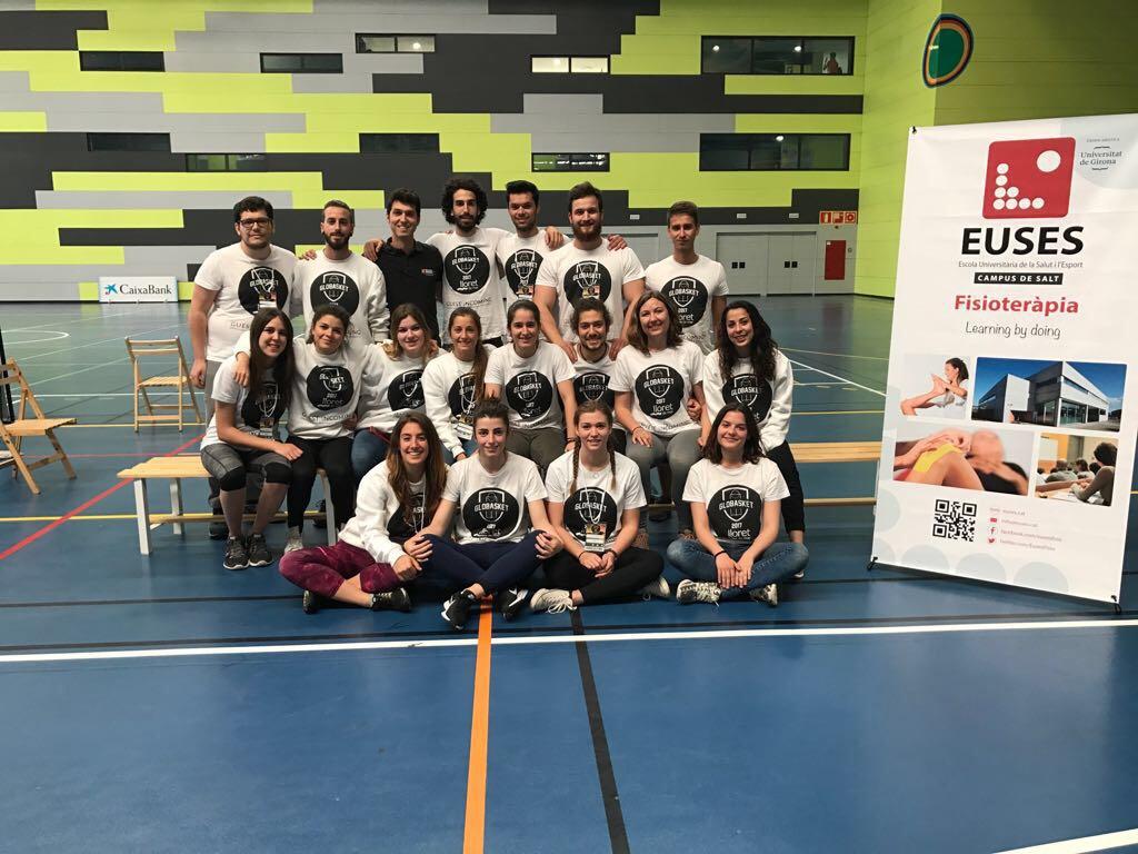 Estudiants del Grau en Fisioteràpia d'EUSES participen en una nova edició del Globasket, celebrada entre el 8 i el 13 d'abril a Lloret de Mar