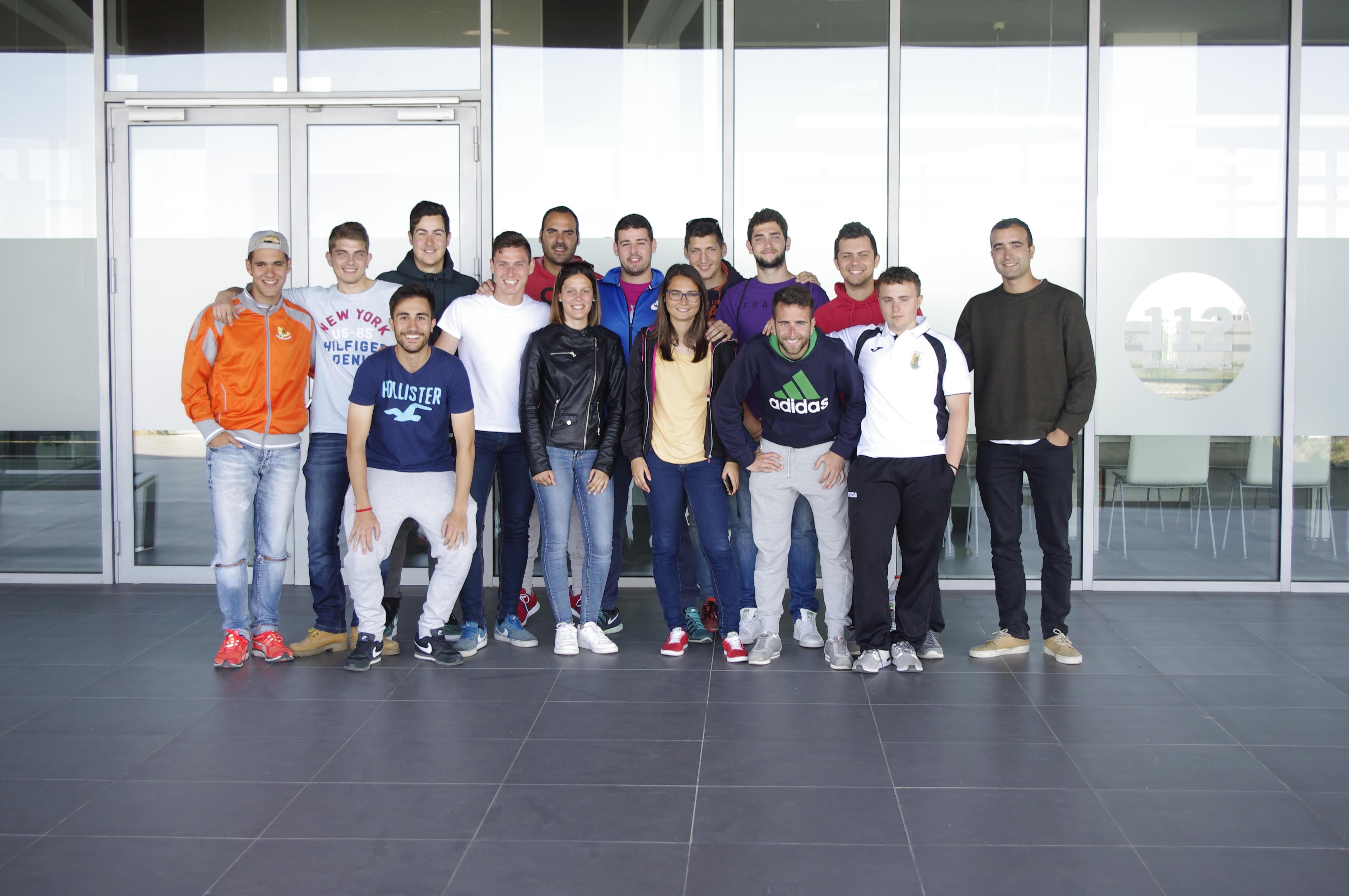 Visita dels alumnes de 3r curs del Grau en CAFE d'EUSES Terres de l'Ebre a les instal·lacions d'emergències 112