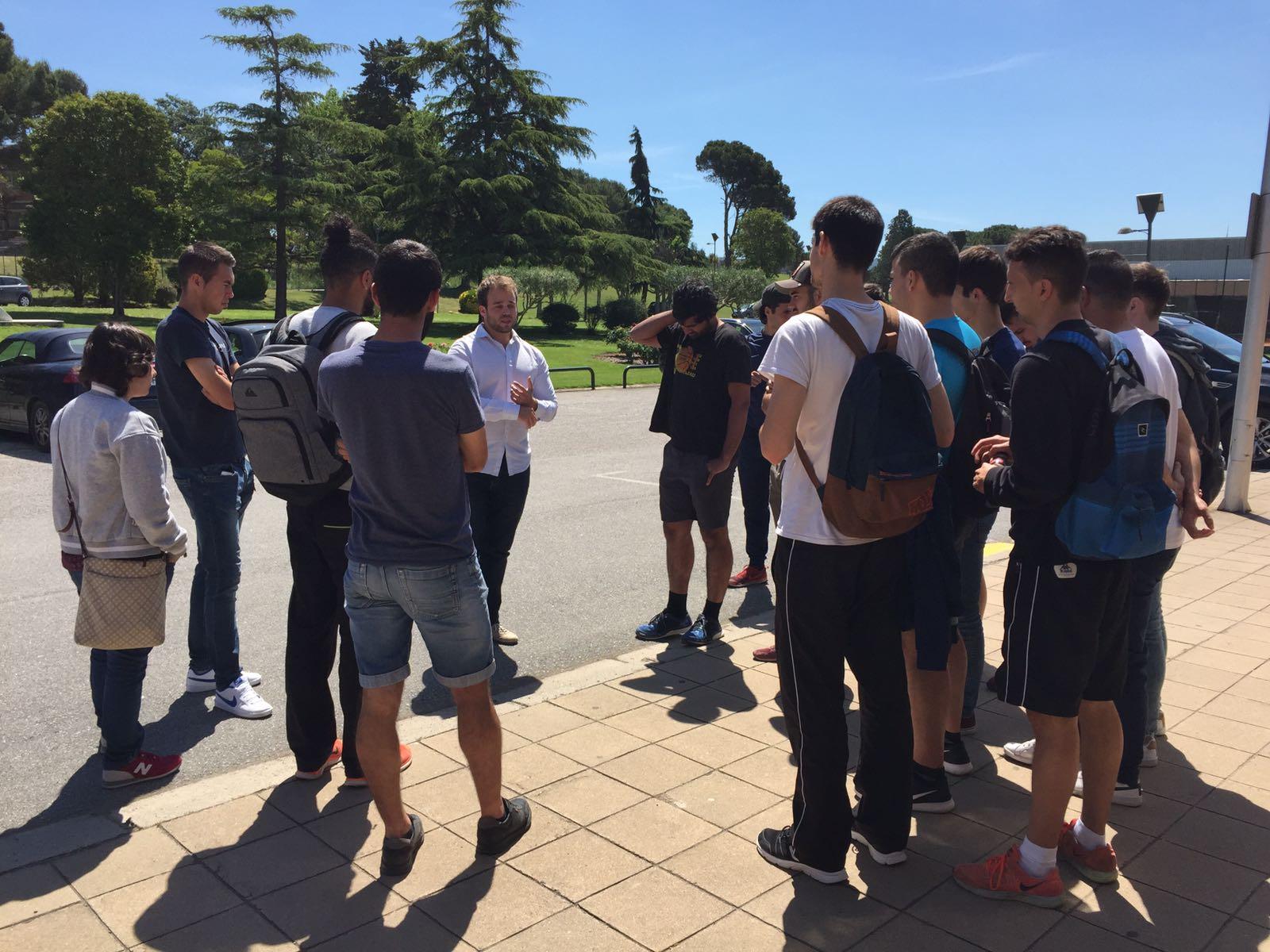 Visita al Centre d'Alt Rendiment de Sant Cugat per part dels estudiants de 3r del Grau en CAFE de l'Escola Universitària de la Salut i l'Esport