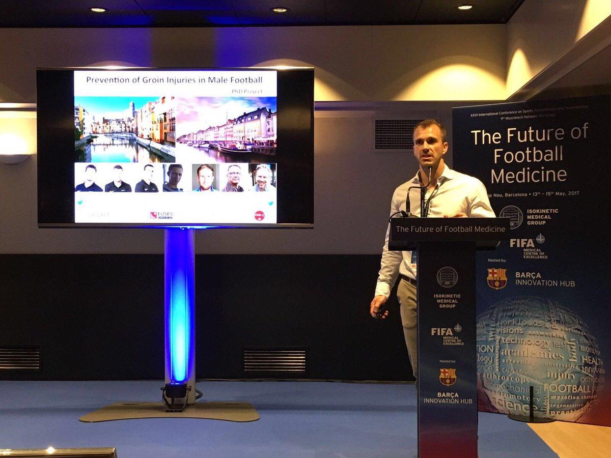 """El professor de CAFE d'EUSES Ernest Esteve realitza una ponència al Camp Nou sobre la prevenció de les lesions de pubàlgia i adductors en la 26a """"International Conference on Sports Rehabilitation and Traumatology"""""""