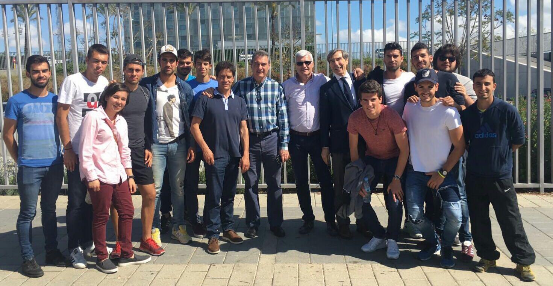 Els estudiants de 3r del Grau en CAFE d'EUSES visiten la Ciutat Esportiva JoanGamper, del FC Barcelona, a Sant Joan Despí