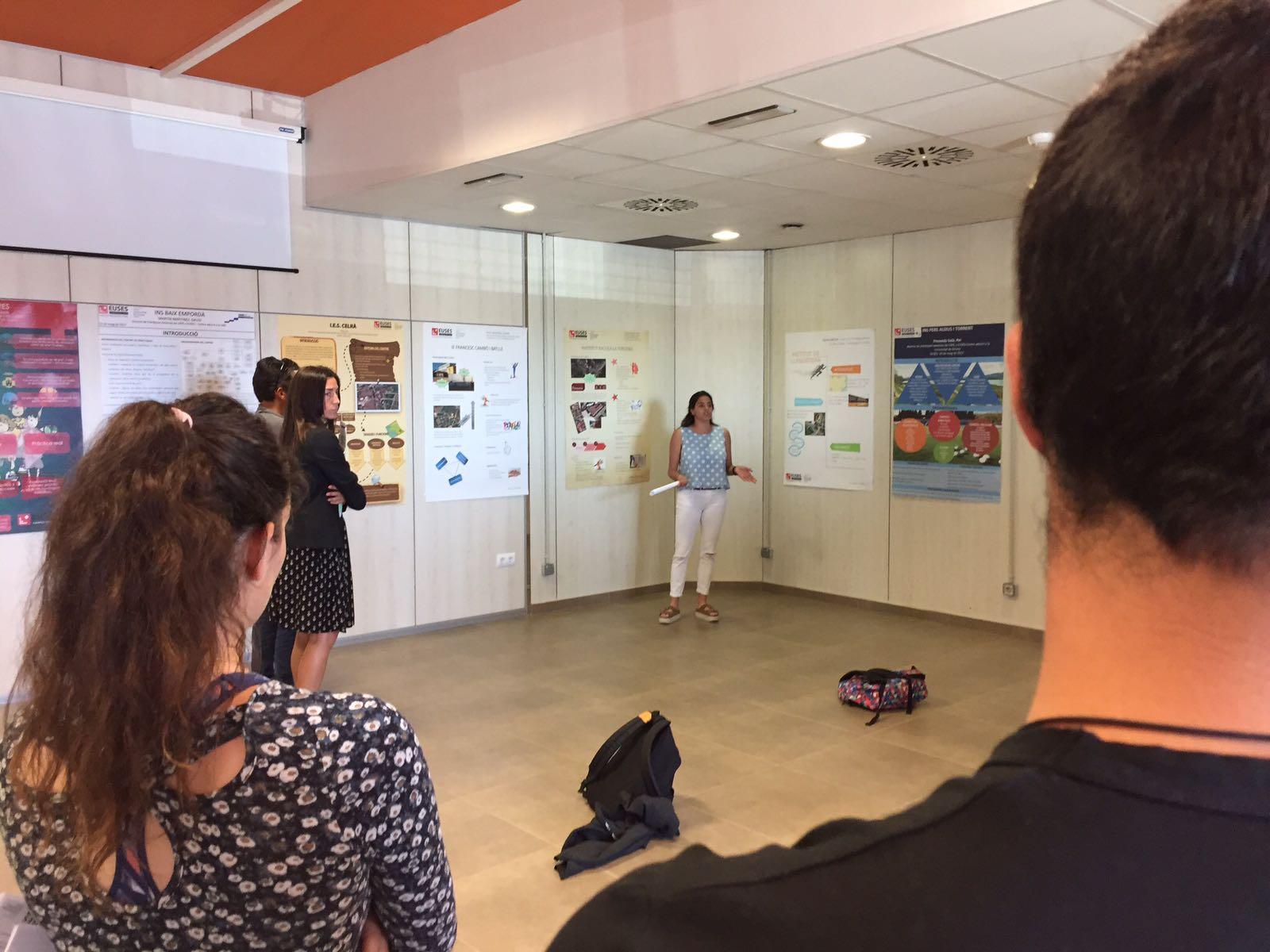 Els estudiants de 4t del Grau en Ciències de l'Activitat Física i l'Esport d'EUSES-UdG presenten els seus pòsters de pràctiques