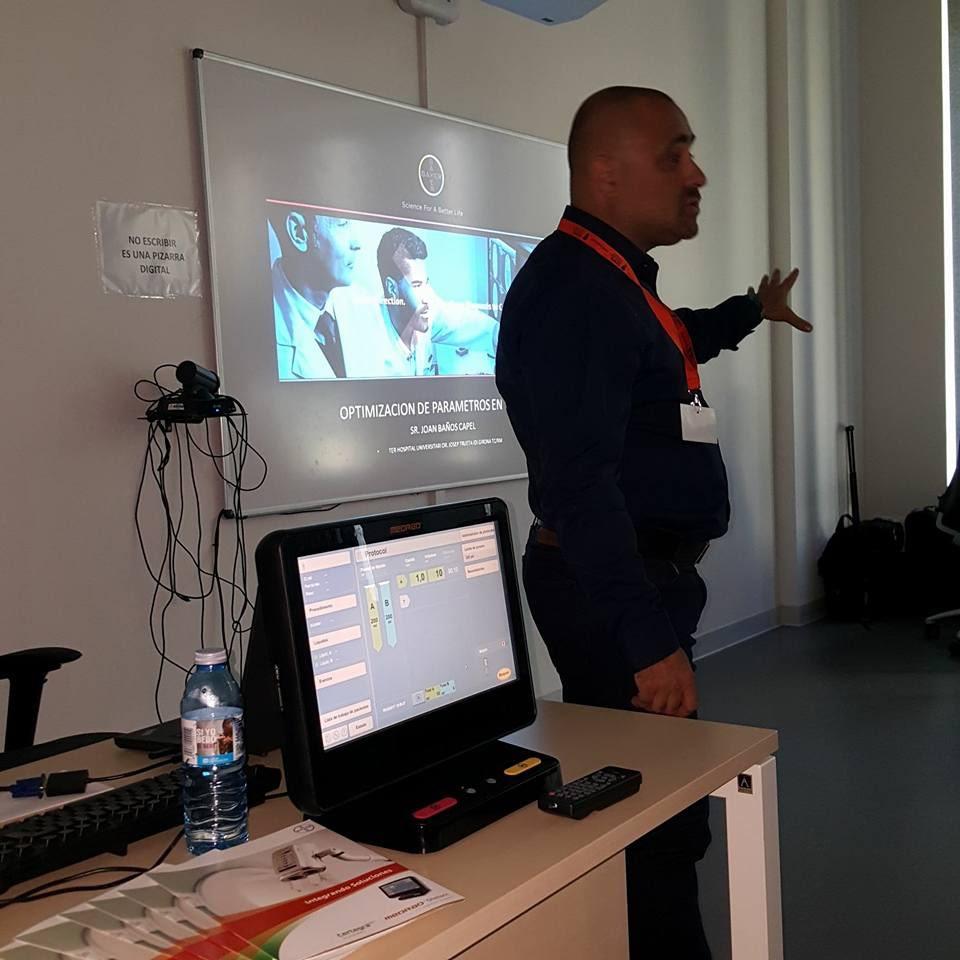 Conferència a Vigo del coordinador del cicle d'Imatge per al Diagnòstic i Medicina Nuclear del Centre Garbí, Joan Baños