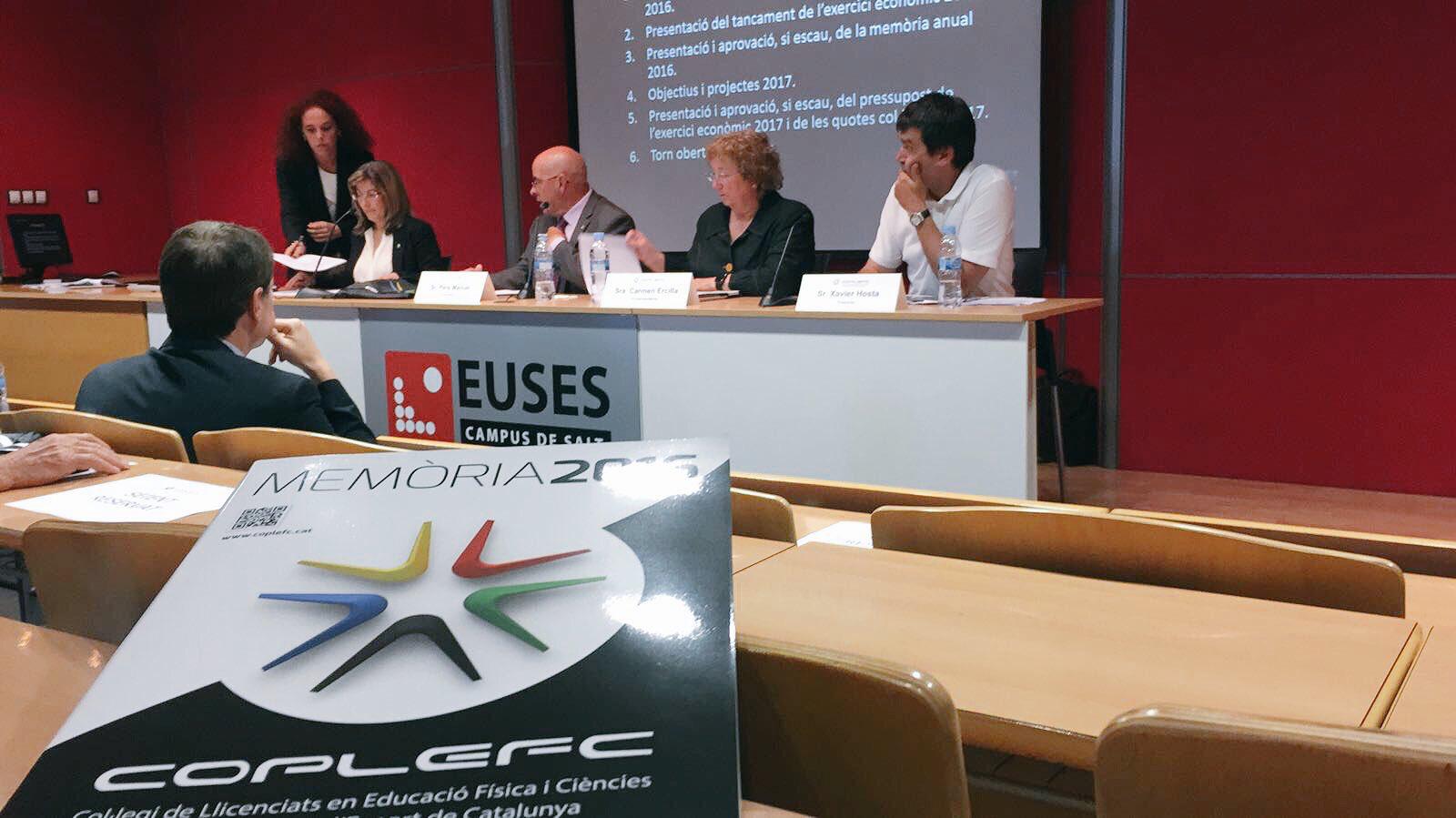 EUSES acull l'assemblea del Col·legi de Llicenciats en Educació Física i Ciències de l'Activitat Física i l'Esport de Catalunya (COPLEFC)