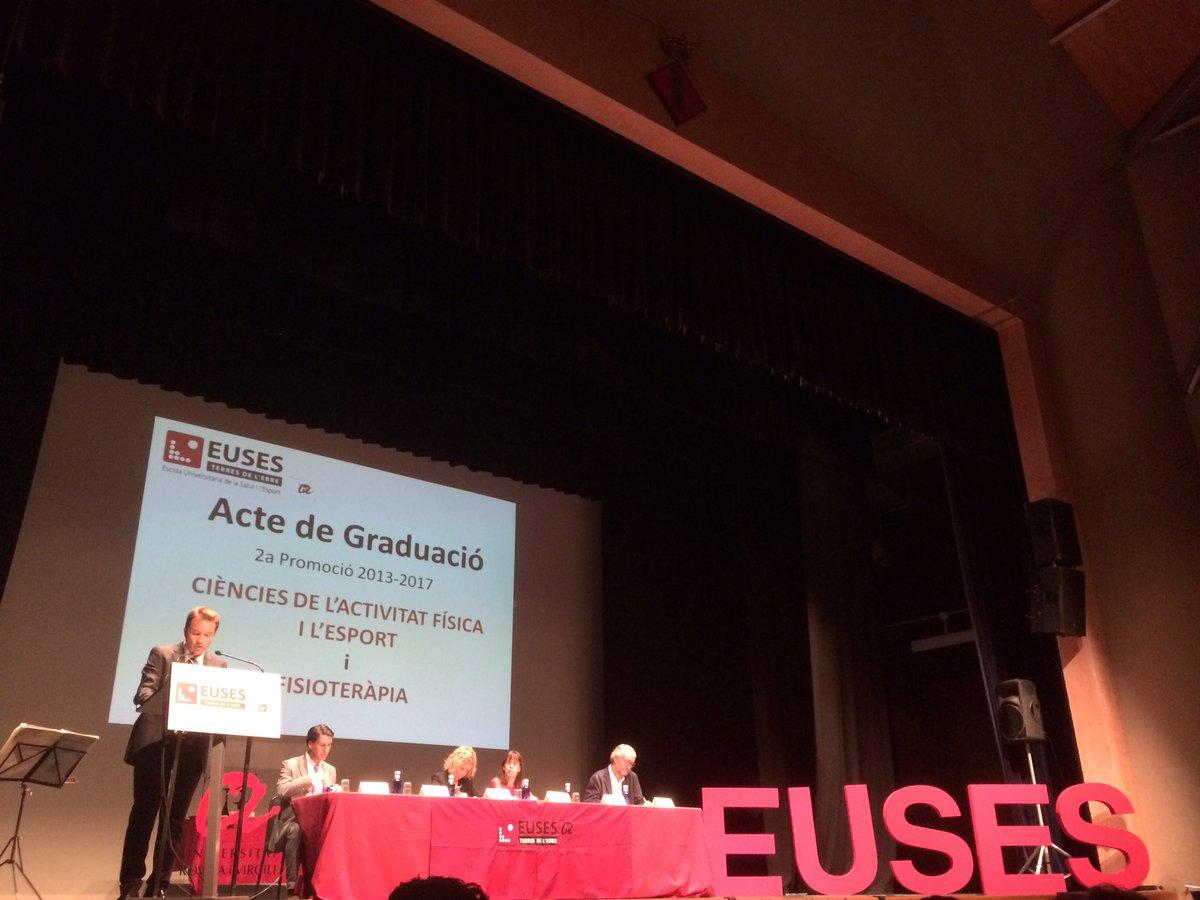 Euses Terres de l'Ebre celebra l'acte de graduació de la 2a promoció del graus en Fisioteràpia i en Ciències de l'Activitat Física i l'Esport (2013-2017)