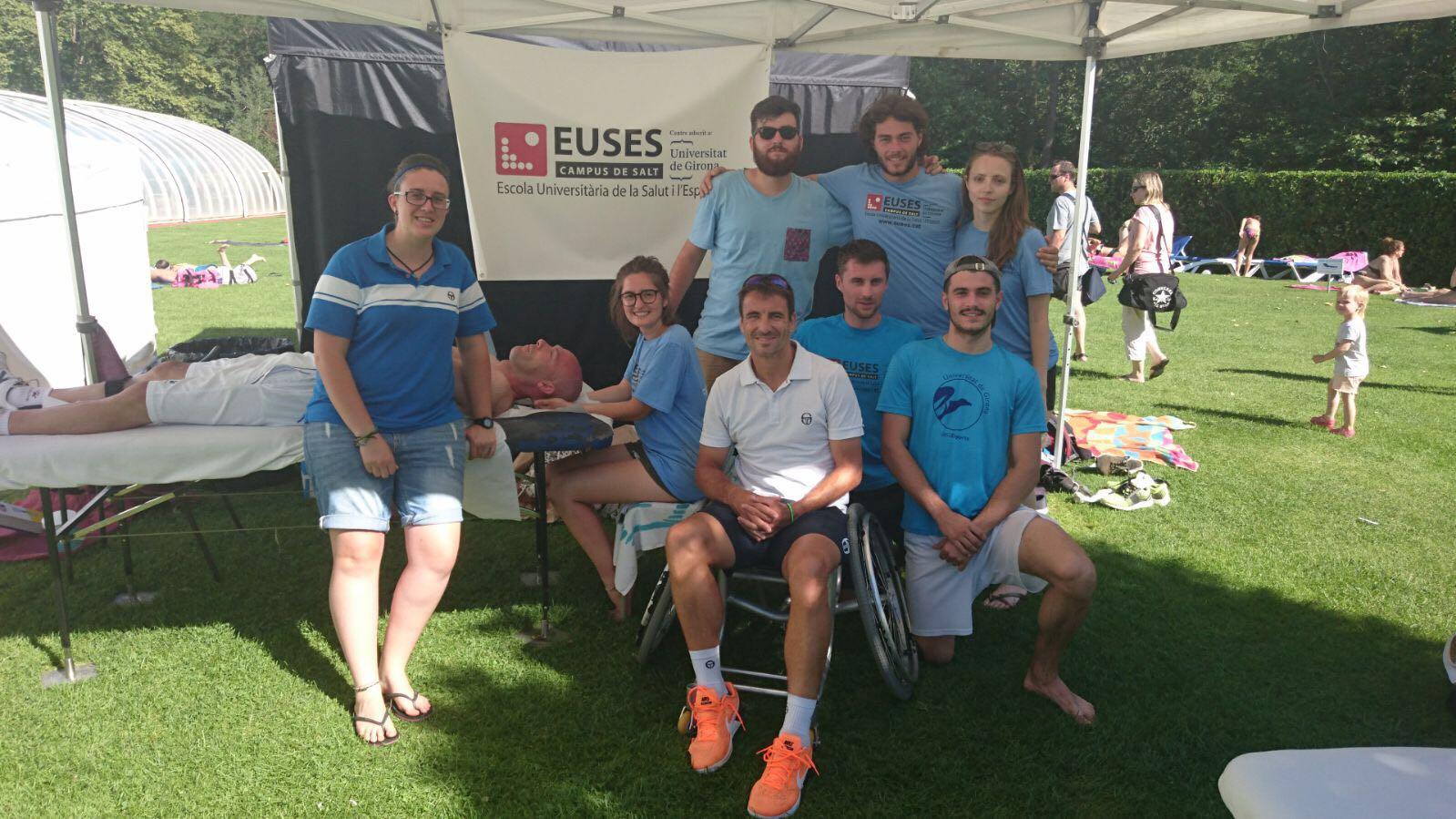 L'Escola Universitària de la Salut i l'Esport col·labora en una nova edició del Memorial Santi Silvas de tennis en cadira de rodes