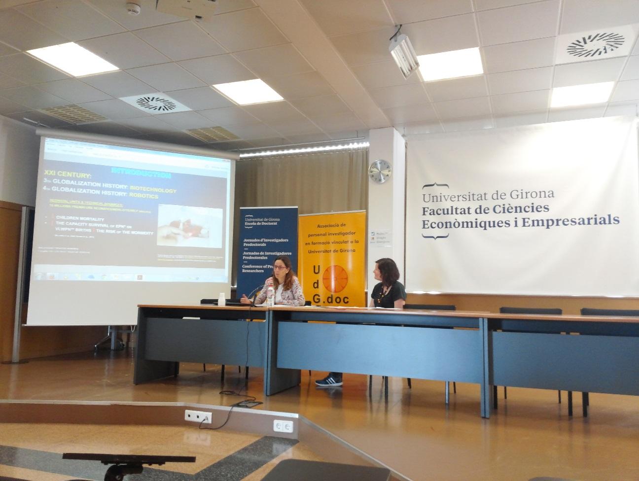 Ponència de la professora d'EUSES Sònia Marcos en la 1a edició de les Jornades d'Investigadors Predoctorals de la UdG