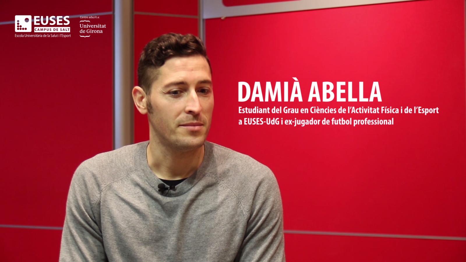 Damià Abella, un exemple d'esportista d'alt nivell que actualment s'està formant a EUSES-UdG, la Universitat de la Salut i l'Esport