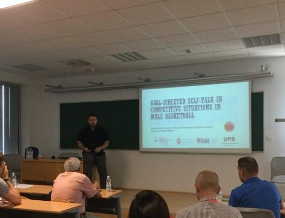El Doctor i professor del Grau en Ciències de l'Activitat Física i de l'Esport, Alexander Tibor Latinjak ha participat en el Congrés Mundial sobre Psicologia de l'Esport, amb una ponència sobre l'autoparla de l'esportista