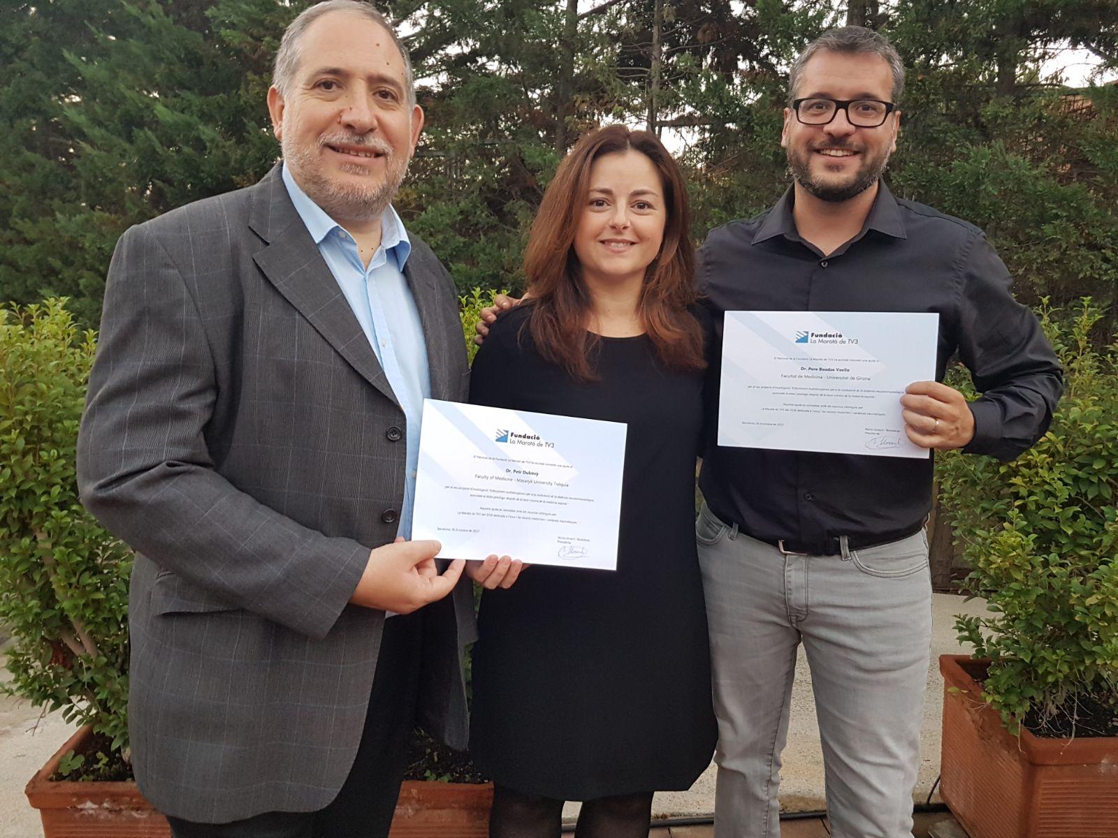 Un equip d'investigació gironí del qual en forma part la professora d'EUSES Dra. Judit Homs ha estat becat per la Marató de TV3 pel seu projecte de recerca